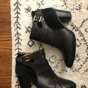 Louise Et Cie black leather ankle boots